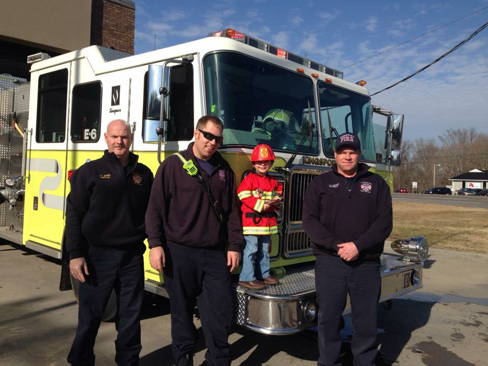 Firefighter Brently with our Engine 6 crew.