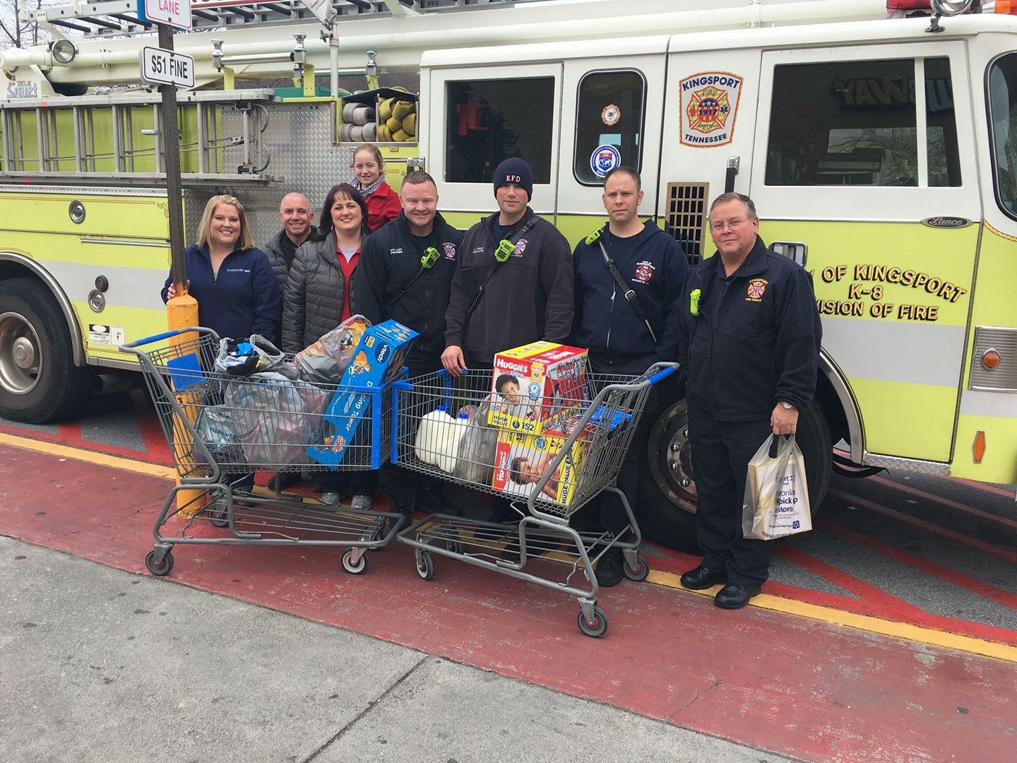 Members of Kingsport Fire purchased needed supplies for local families this holiday season.